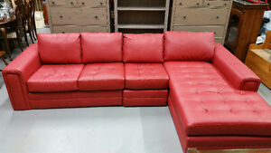 Gorgeous 3 Piece Leather Sectional (NEW)