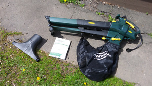 Yardworks 12A Electric Blower/Mulcher with Bag-New