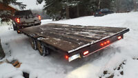 Truck and 8'×20' trailer for hauling around town or hotshot