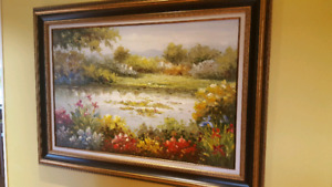 Peinture huile campagne - oil painting country side