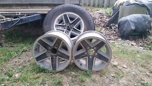 """15"""" Rims from Chevy Blazer  (4 rims, 2 with tires)"""