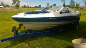 1988 Bayliner Capri 1950 Bowrider and Trailer