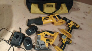 DeWalt 18V power tools kit