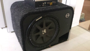 "12"" Kicker Comp CVR DVC Sub in ported box with Alpine amp"