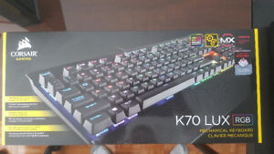 Corsair Gaming K70 LUX RGB Mechanical Gaming Keyboard, Cherry MX