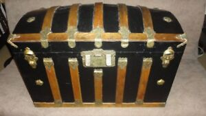 Vintage Dome Top Steamer Trunk circa 1880 refurbished