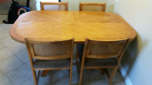 Wood Kitchen Table with 4 Chairs $150 OBO