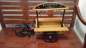 Vintage Miniature Bicycle Flower / Plant Stand / Cart