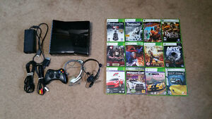 Xbox 360 Slim (250gb) and 11 Games