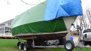 Early Bird Excellent Condition Pearson 23 with Tandem trailer