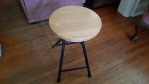 Wooden and Metal Stool