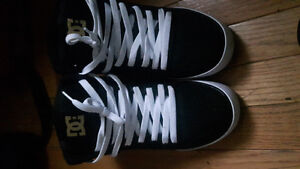 DC black and gold shoes