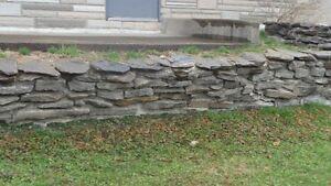 pierres et roches décoratives ou muret pour paysagiste