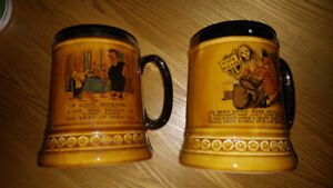 Lord nelson pottery mugs Stein good husband 1971. Drinking 1968