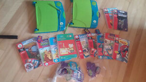 2 Leap Frog Learning Systems + 12 Books & 24 Cartridges