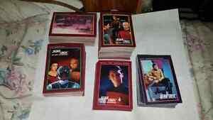 Star Trek next Generation and original Star Trek trading cards