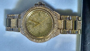Michael Kors Camille Pave Gold Watch