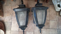 3 Used Outdoor Coach Lights