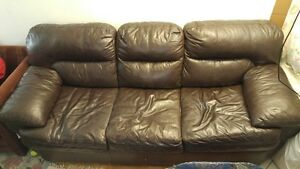 2 Leather Couches for $190