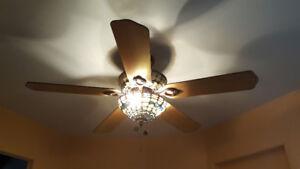 Ventilateur plafond style Tiffany
