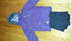 Girls size 12 brand name winter coat and snowpants