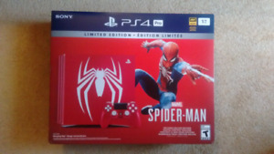 Spiderman ps4 pro limited edition (Sealed New)