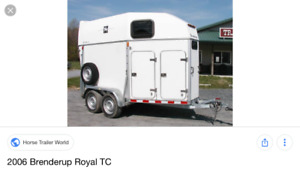 Searching for Brenderup 2 Horse Trailer