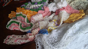 Vintage Fancy Work - Crocheted Tatted Colourful Kitchener / Waterloo Kitchener Area image 3
