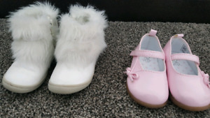 Size 4 girl shoes / boots in great condition