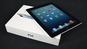 64GB iPad 4th Generation WiFi + LTE Unlcoked Black leather Cover