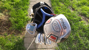 LH Taylormade rocketbladez irons w/ PING driver