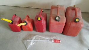 Gas cans and siphon