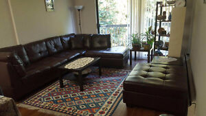 Moving Sale - Sectional, coffee table, bookcase, etc
