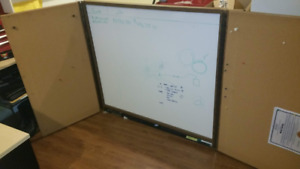 """White Board and Bulletin Board Combo-With cover doors-48"""" x 44"""""""
