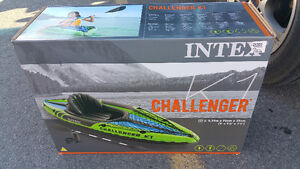 Challenger canoe inflatable in excellent condition - used once