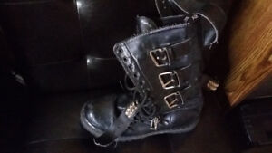 Demonia Leather biker/combat boots