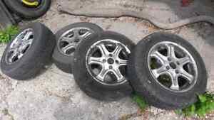 """x4 14"""" 4x100 Aluminum Wheels from VW Jetta"""