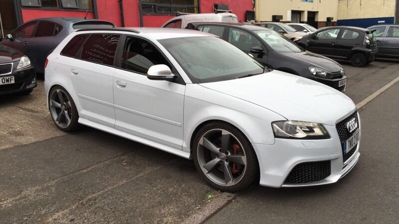 audi s3 2 0 turbo quattro 5 door hatchback 2008 58reg full rs3 conversion fully loaded in. Black Bedroom Furniture Sets. Home Design Ideas