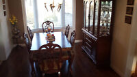 Dinning Table + Buffet & Hutch