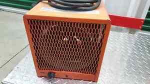 240v construction style forced air heater