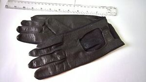 Ladies Italian Black Leather  Driving GLOVES