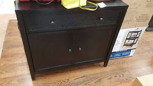 New in box Hutch with drawer and cabinets.