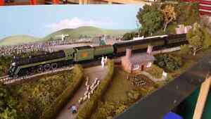 HO  Scale Train Collection with 75 % complete layout