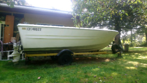 OBO 17' Boat Trailer and 17' KC Therm Glass Boat