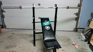 banc de musculation (bench) poids et haltères valeur 1500$