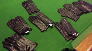 BRAND NEW MENS AND WOMENS BLACK LEATHER GLOVES!