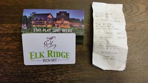 $500 GIFT CARD FOR ELK RIDGE RESORT