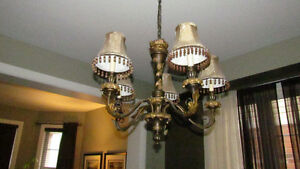 Chandelier and  Floor Lamp