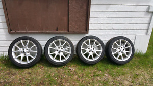 5x110 Wheel and Continental Tire Package 225/45/17