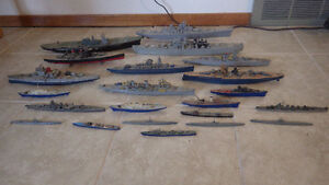 Collection of Vintage Model Ships